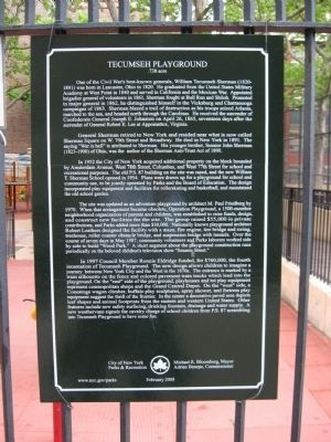 Tecumseh Playground Marker image. Click for full size.