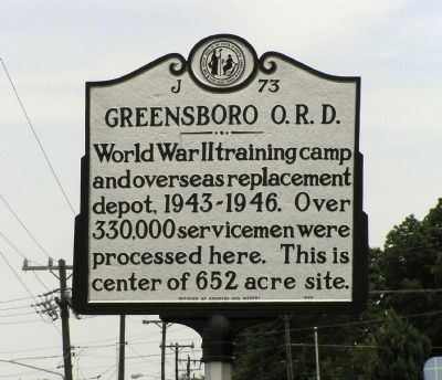 Greensboro O.R.D. Marker image. Click for full size.