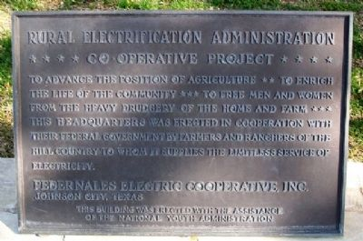 REA - PEC Cooperative Project Marker Photo, Click for full size