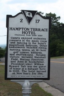 Hampton Terrace Hotel Marker reverse side image. Click for full size.