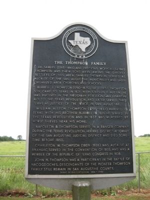 Thompson Family Marker image. Click for full size.