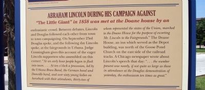 Middle Section - - Champaign's Lincoln Marker image, Click for more information