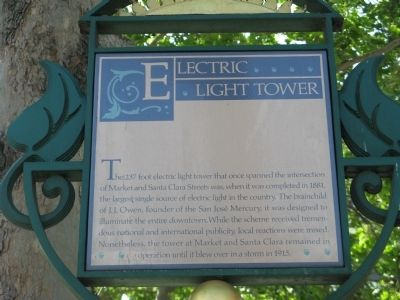 Electric Light Tower Marker image. Click for full size.