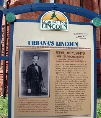 Upper Section - - Urbana's Lincoln Marker image. Click for full size.