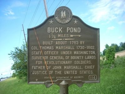 Buck Pond Marker image. Click for full size.