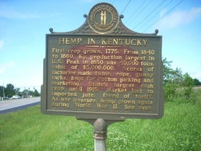 Hemp in Kentucky (Side One) image. Click for full size.