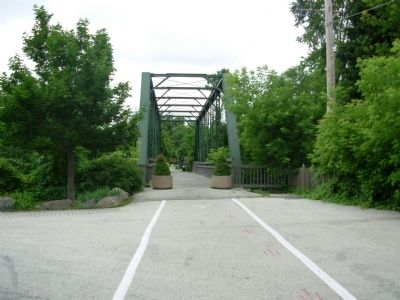 Interurban Bridge / Riding the Interurban (Two Sided Marker) Marker image. Click for full size.
