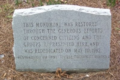 Cumberland County Confederate Memorial Restoration Photo, Click for full size