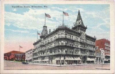 Old Postcard of Republican House Hotel Photo, Click for full size