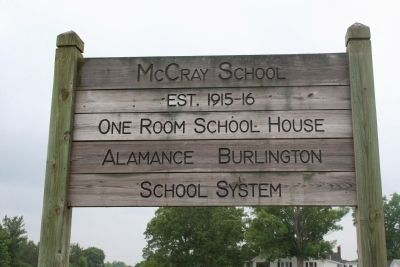 McCray School Marker image. Click for full size.