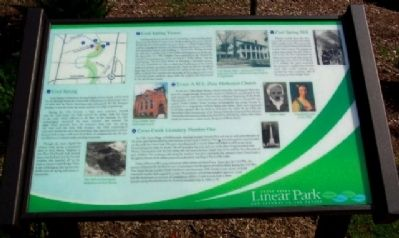 Cross Creek Linear Park Marker image. Click for full size.
