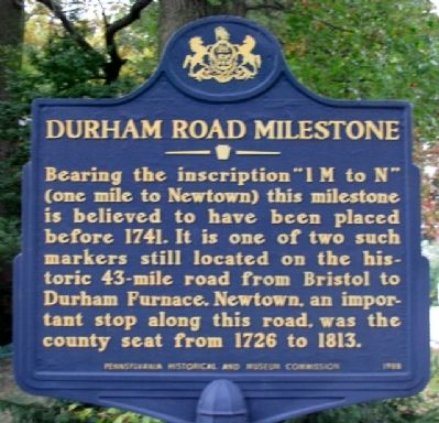 Durham Road Milestone Marker image. Click for full size.