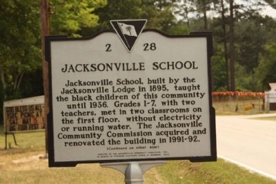 Jacksonville School  Marker image. Click for full size.