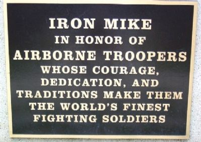 Iron Mike Marker image. Click for full size.