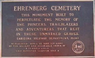 Ehrenberg Cemetery Marker image. Click for full size.