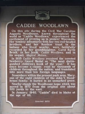 Caddie Woodlawn Marker image. Click for full size.