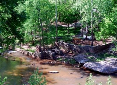 McBee Mills Ruins -<br>From Parking Lot Across Reedy River image. Click for full size.