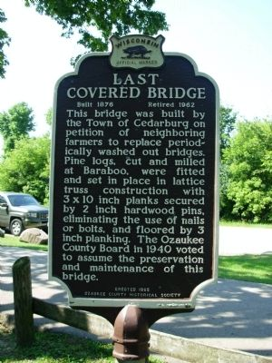 Last Covered Bridge Marker image. Click for full size.