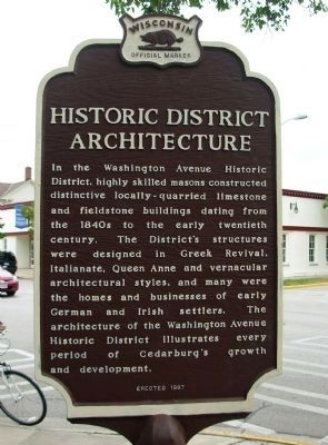 Historic District Architecture Marker image. Click for full size.