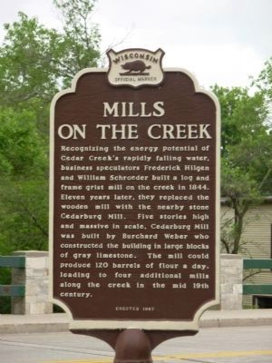 Mills on the Creek Marker image. Click for full size.