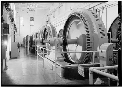 1896 Power Plant generators #1-4 , in 1986 image. Click for full size.