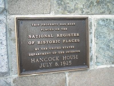Hancock House Marker Photo, Click for full size