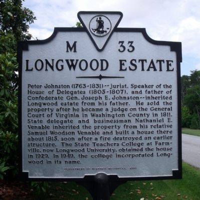 Longwood Estate Marker Photo, Click for full size