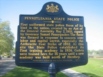 Pennsylvania State Police Marker image. Click for full size.