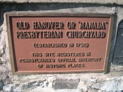 "Old Hanover or ""Manada"" Presbyterian Churchyard image. Click for full size."