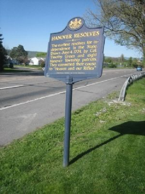 Hanover Resolves Marker image. Click for full size.