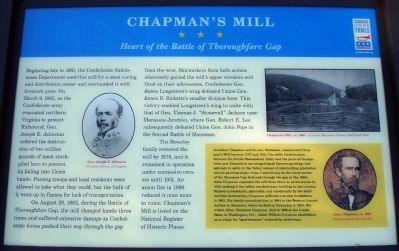 Chapman's Mill Marker image. Click for full size.