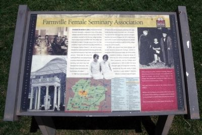 Farmville Female Seminary Association CRIEHT Marker Photo, Click for full size
