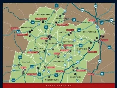 Civil Rights in Education Heritage Trail� Map image. Click for full size.