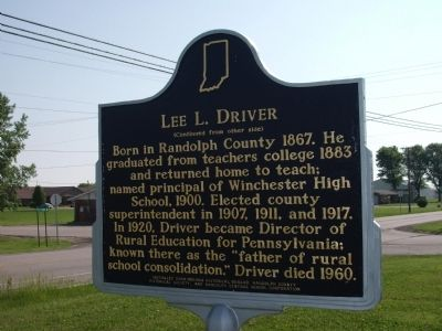 "Side ""B"" - - Lee L. Driver Marker image. Click for full size."