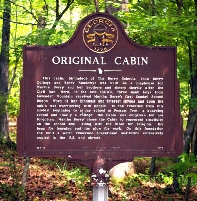 Original Cabin Marker image. Click for full size.