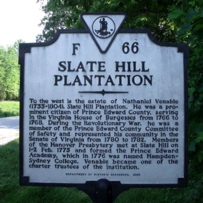 Slate Hill Plantation Marker image. Click for full size.
