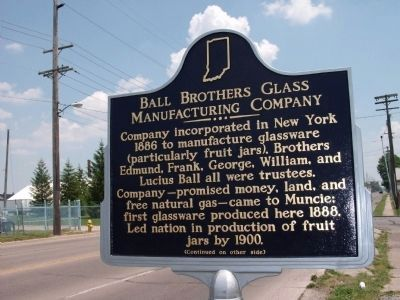 "Side ""A"" - - Ball Brothers Glass Manufacturing Company Marker image. Click for full size."