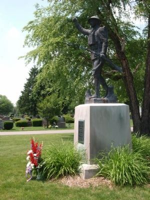 "Other View - - ""The Spirit of the American Doughboy"" & Marker image. Click for full size."