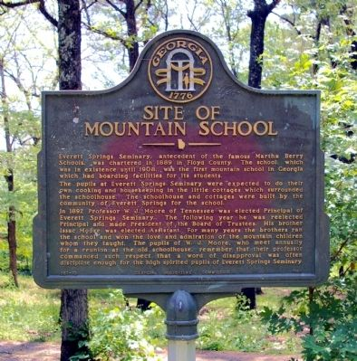 Site of Mountain School Marker image. Click for full size.