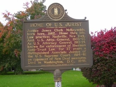 Home of U.S. Jurist Marker image. Click for full size.
