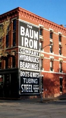 Baum Iron Company Building and Marker image. Click for full size.