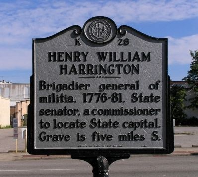 Henry William Harrington Marker image. Click for full size.