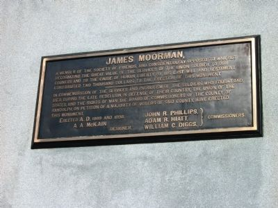 """""James Moorman"""" Plaque image. Click for full size."