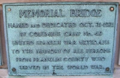 Memorial Bridge Marker image. Click for full size.
