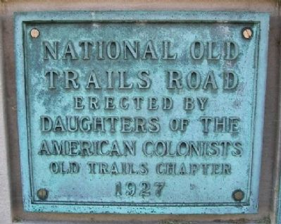 National Old Trails Road Marker image. Click for full size.