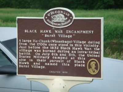 Black Hawk War Encampment Marker image. Click for full size.