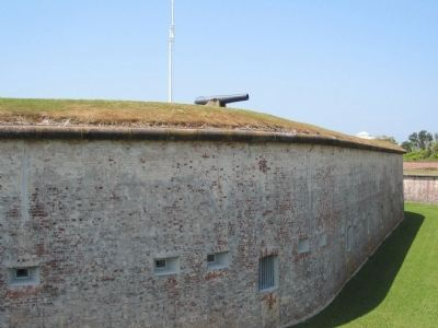 Walls of Fort Macon image. Click for full size.