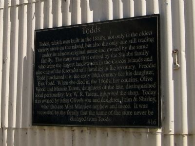 Todds Marker image. Click for full size.