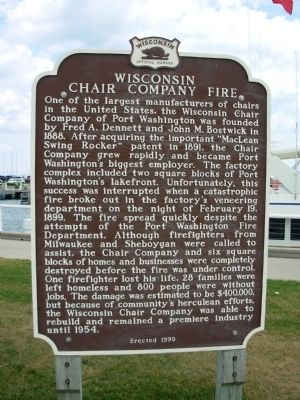 The Wisconsin Chair Company Fire Marker image. Click for full size.