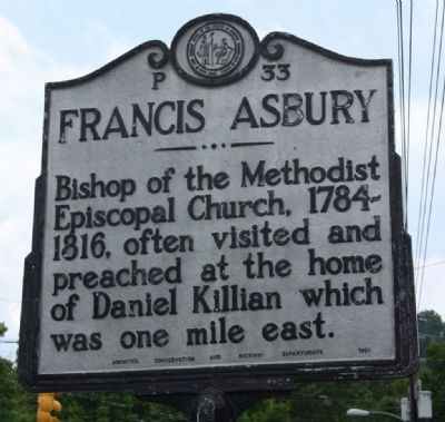 Francis Asbury Marker image. Click for full size.